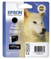 Картридж оригинальный (блистер) черный фото (photo black) Epson T0961, объем 11,4 мл.