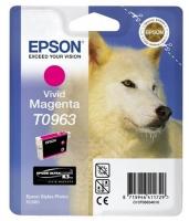 Картридж оригинальный (в технологической упаковке) пурпурный (magenta) Epson T0963, объем 11,4 мл.