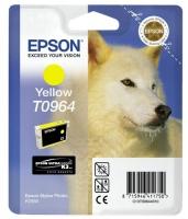 Картридж оригинальный (блистер) желтый (yellow) Epson T0964, объем 11,4 мл.
