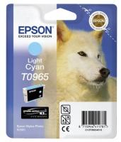 Картридж оригинальный (блистер) светло-голубой (light cyan) Epson T0965, объем 11,4 мл.