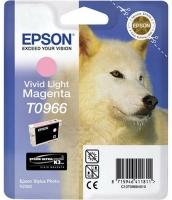 Картридж оригинальный (блистер) светло-пурпурный (light magenta) Epson T0966, объем 11,4 мл.