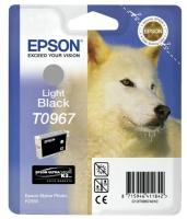 Картридж оригинальный (блистер) светло-черный / серый (light black) Epson T0967, объем 11,4 мл.