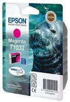 Картридж оригинальный (блистер) увеличенной емкости пурпурный Epson T1033 / C13T10334A10, объем 11,1 мл.