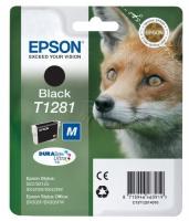 Картридж оригинальный (в технологической упаковке) черный (black) Epson T1281 / C13T12814010, объем 5,9  мл.