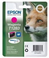 Картридж оригинальный (в технологической упаковке) пурпурный (magenta) Epson T1283 / C13T12834010, объем 3,5 мл.