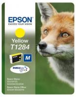 Картридж оригинальный (блистер) желтый (yellow) Epson T1284 / C13T12844010, объем 3,5 мл.