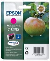 Картридж оригинальный (в технологической упаковке) пурпурный (magenta) Epson T1293 / C13T12934010, объем 7 мл.