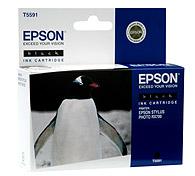 Картридж оригинальный (в технологической упаковке) черный (black) Epson T5591 (C13T55914010), ресурс 400 стр.
