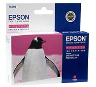 Картридж оригинальный (блистер) пурпурный (magenta) Epson T5593 (C13T55934010), ресурс 400 стр.