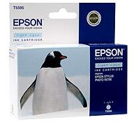 Картридж оригинальный (блистер) светло-голубой (light cyan) Epson T5595 (C13T55954010), ресурс 400 стр.
