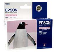 Картридж оригинальный (в технологической упаковке) светло-пурпурный (light magenta) Epson T5596 (C13T55964010), ресурс 400 стр.