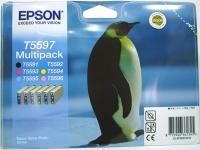 Комплект картриджей оригинальный Epson T559740 (Bl, C, M, Y, LC, LM), ресурс 6 х 400 стр.