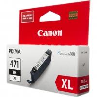 Картридж оригинальный черный Canon CLI-471XL BK, ресурс 640 стр.